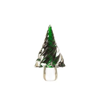 Glitzhome Table Decor Glass Christmas Tree