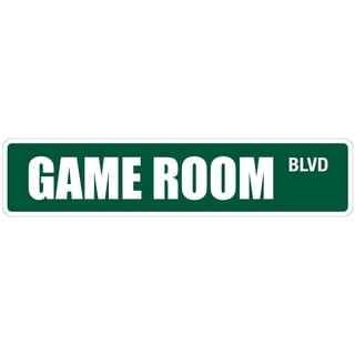 "Game Room 4"" x 18"" Metal Novelty Street Sign"