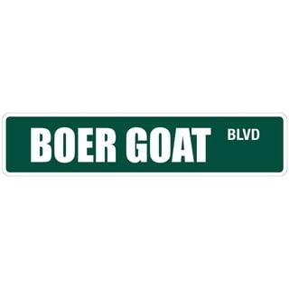"Boer Goat 4"" x 18"" Metal Novelty Street Sign"