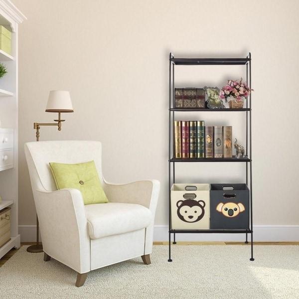 4-Tier Storage Furniture Wall Shelves Ladder Bookcase/Bookshelf
