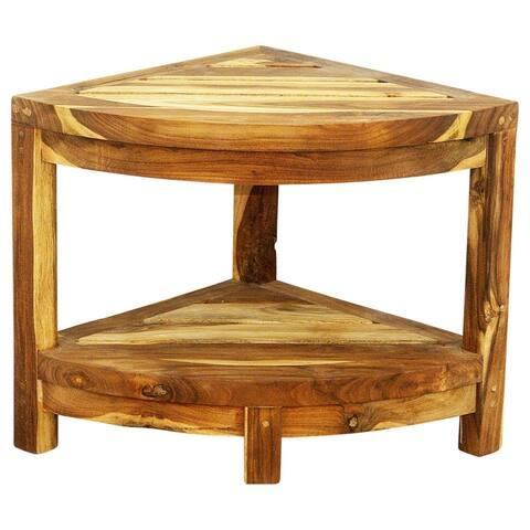 Haussmann Teak Corner Table 15.5 W x 15.5 D x 16 in H Farmed Teak Oil - 15 in x 15 in x 16 in h