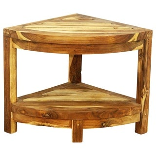Haussmann Teak Corner Table 15.5 W x 15.5 D x 16 in H Farmed Teak Oil - 15 in x 15 in x 16 in h