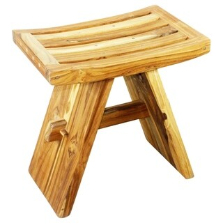 Haussmann Thai Teak Shower Stool 18 L x 12 W x 18 in H Farmed Teak Oil - 18 in x 12 in x 18 in h