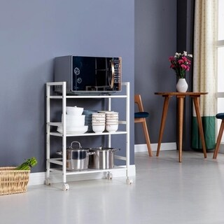 Link to 3-Tier Rolling Serving Shelf Rack Utility Storage Kitchen Island Cart Similar Items in Kitchen Carts