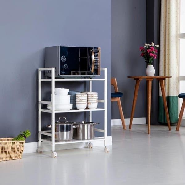 Shop 3-Tier Rolling Serving Shelf Rack Utility Storage ...