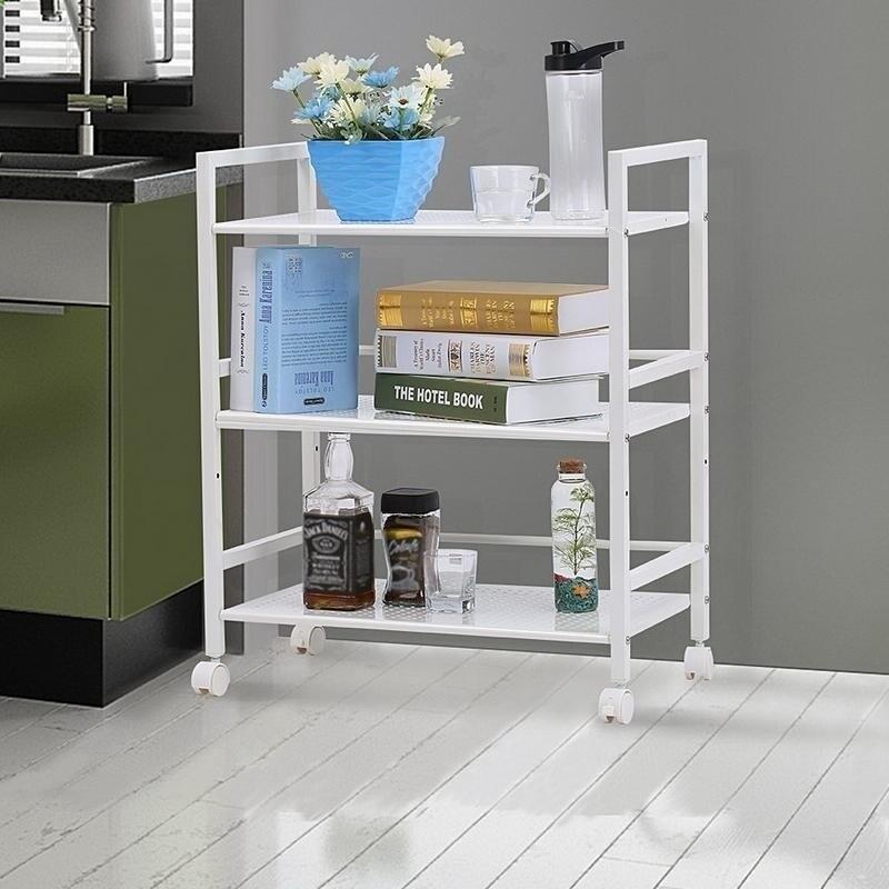 3 Tier Rolling Serving Shelf Rack Utility Storage Kitchen Island Cart N A