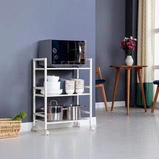 3-Tier Island Rolling Serving Shelf Rack Utility Storage Kitchen Cart