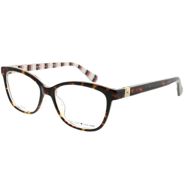 5b8f40e3c4 Kate Spade Square KS Emilyn 086 Women Dark Havana Frame Eyeglasses