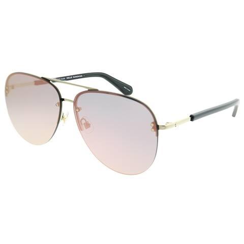 Kate Spade Aviator KS Jakayla 807 0J Women Gold Black Frame Rose Gold Mirror Lens Sunglasses
