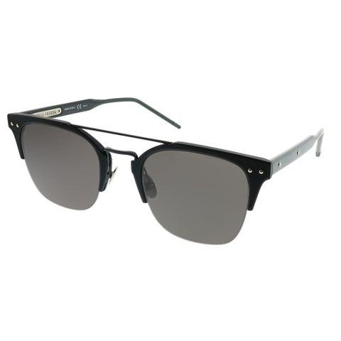 Bottega Veneta Rectangle BV 0146S 001 Unisex Black Frame Grey Lens Sunglasses