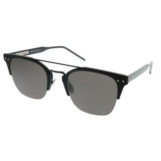f1a969b56e Bottega Veneta Rectangle BV 0146S 001 Unisex Black Frame Grey Lens  Sunglasses