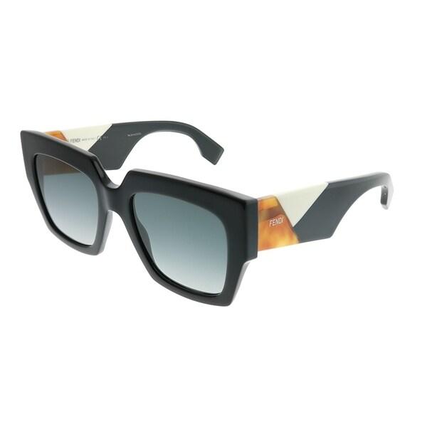 6bf7839810a8 Fendi Square FF 0263 807 Womens Black Frame Dark Grey Gradient Lens  Sunglasses