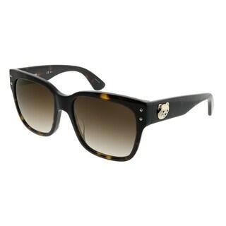 Moschino Square 008/S 086 JL Unisex Dark Havana Frame Gold Mirror Lens Sunglasses
