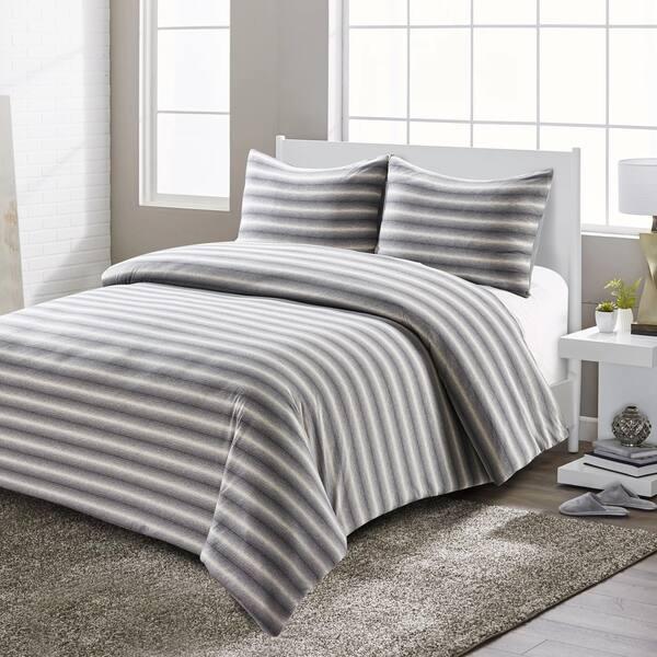 Shop Style Quarters Super Soft Shadow Stripe Jersey Comforter Set