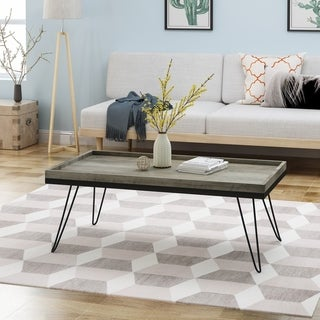Seminole Industrial Modern Coffee Table with Hairpin Legs by Christopher Knight Home