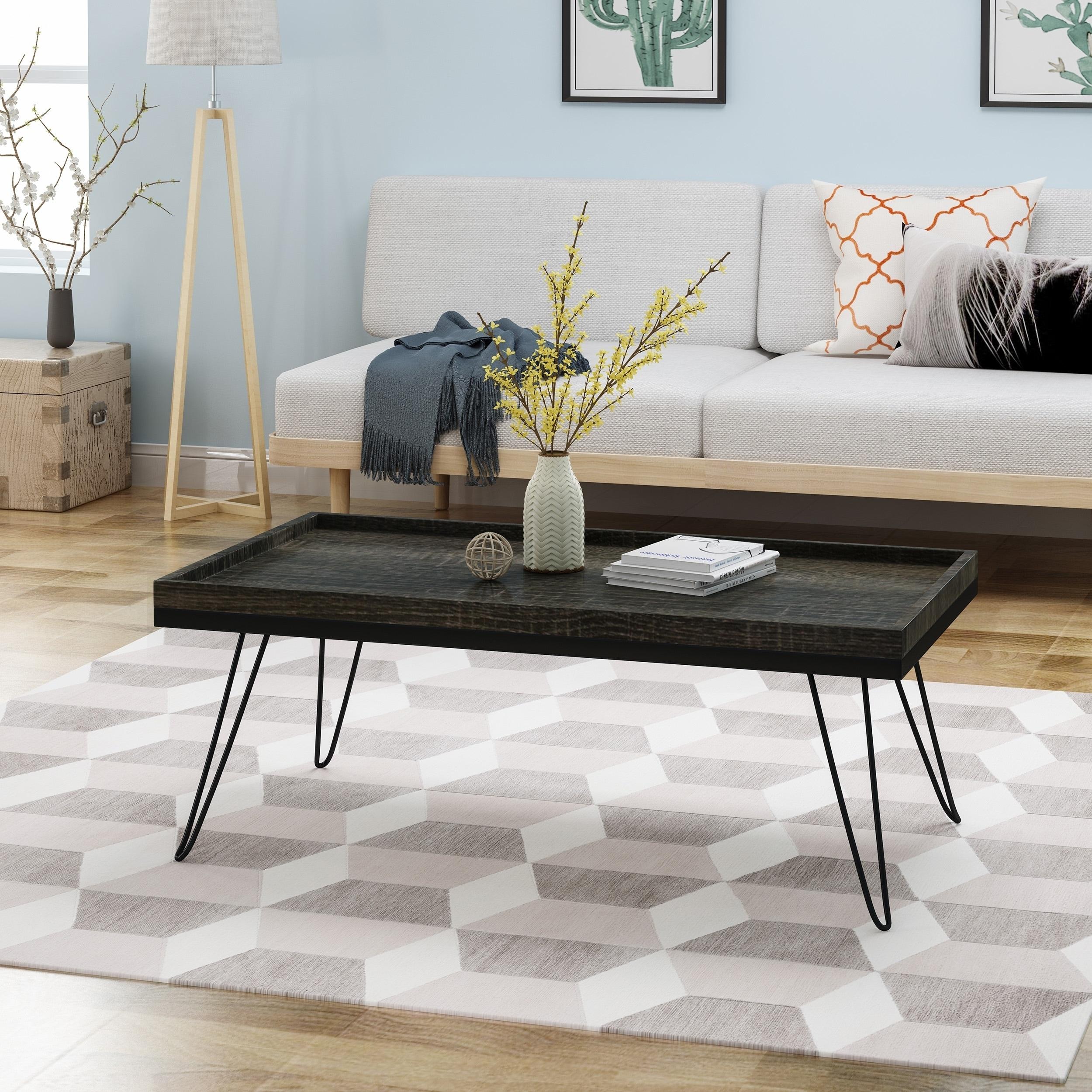 Hairpin Leg Coffee Table.Seminole Industrial Modern Coffee Table With Hairpin Legs By Christopher Knight Home