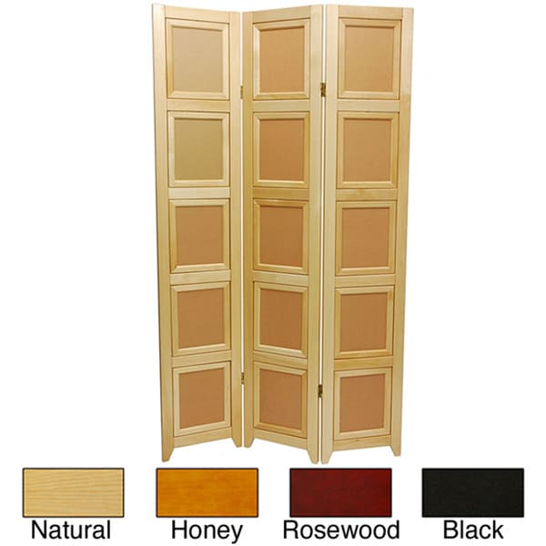 Wooden 3-panel Double-sided Photo Frame Room Divider (China)