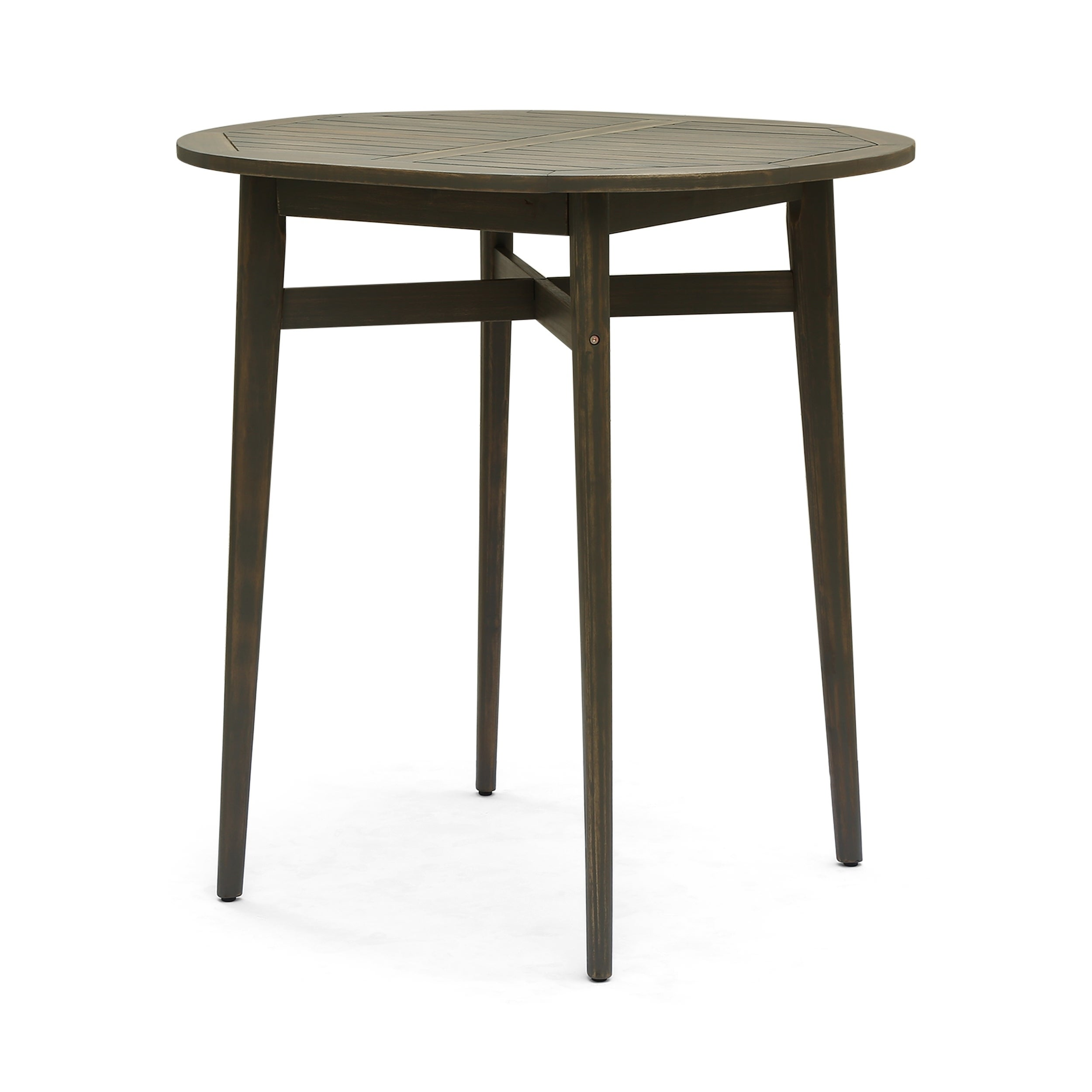 Stamford Outdoor Rustic Acacia Wood Bar Table With Slat Top By Christopher Knight Home