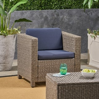 Puerta Outdoor Patio Cushions for Club Chairs Weather-Resistant Deep Seating by Christopher Knight Home