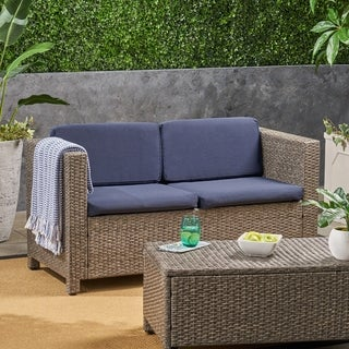 Puerta Outdoor Patio Cushions for Loveseat Weather-Resistant Deep Seating by Christopher Knight Home