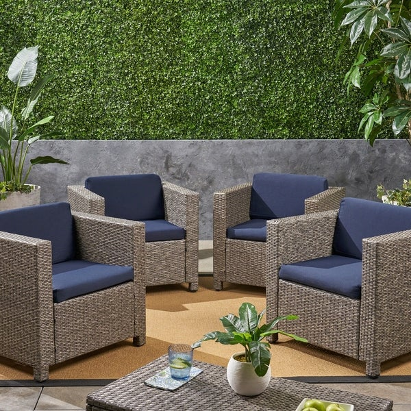 Shop Puerta Outdoor Patio Cushions For Club Chairs Weather Resistant