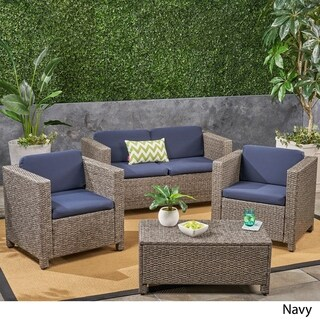 Puerta Outdoor Patio Cushions for Loveseat and Club Chairs Weather-Resistant Deep Seating by Christopher Knight Home