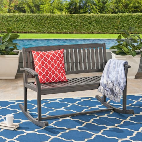 Regatta Acacia Wood Patio Glider by Christopher Knight Home