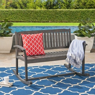 Link to Regatta Acacia Wood Patio Glider by Christopher Knight Home Similar Items in Patio Furniture