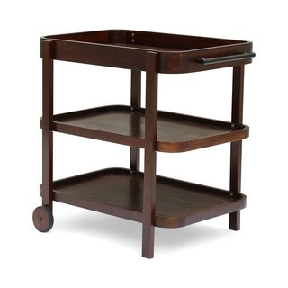 Pine Valley Patio Bar Cart 3-Tiers Solid Acacia Wood by Christopher Knight Home