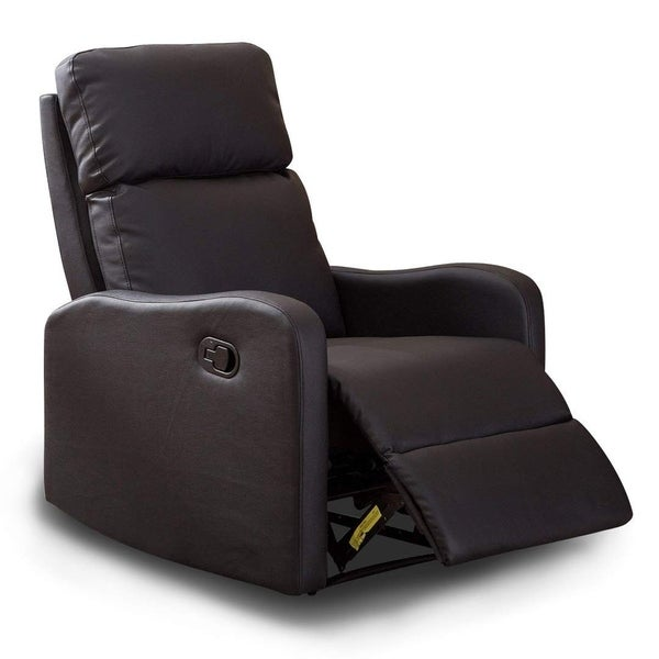 Shop Bonzy Recliner Chair Black Leather Recliner Chair For