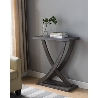 Wooden Console Table, Distressed Gray
