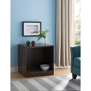 Wooden Pet End Table, Dark Walnut Brown
