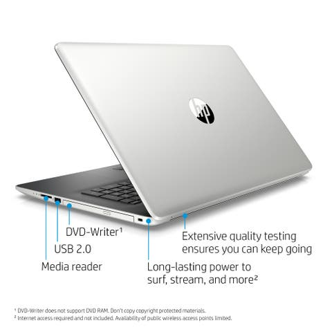 """HP 17-by0000 17-by0053cl 17.3"""" Touchscreen Notebook - 1600 x 900 - Core i5 i5-8250U - 12 GB RAM - 1 TB HDD - Refurbished"""