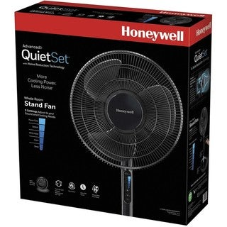 Honeywell Advanced QuietSet 16 In. Stand Fan With Noise Reduction Technology Black HSF600B