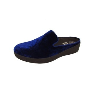 FitFlop Womens Superskate Mules In Velvet Slip On Shoes, Midnight Navy