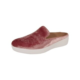 FitFlop Womens Superskate Mules In Velvet Slip On Shoes, Nude