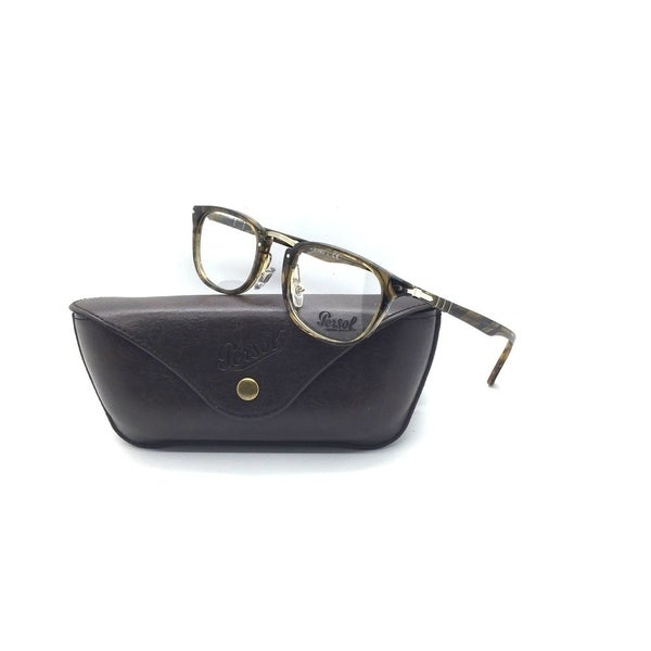 61d534ade4 Shop PERSOL 3126-V 1021 Typewriter Edition Brown Havana RX 50mm Eyeglasses  - Free Shipping Today - Overstock.com - 23008315