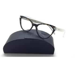 4c6a1aa0b52 Prada Cateye VPR 02T 2AU-1O1 Havana   White Eyeglasses 52mm with Case