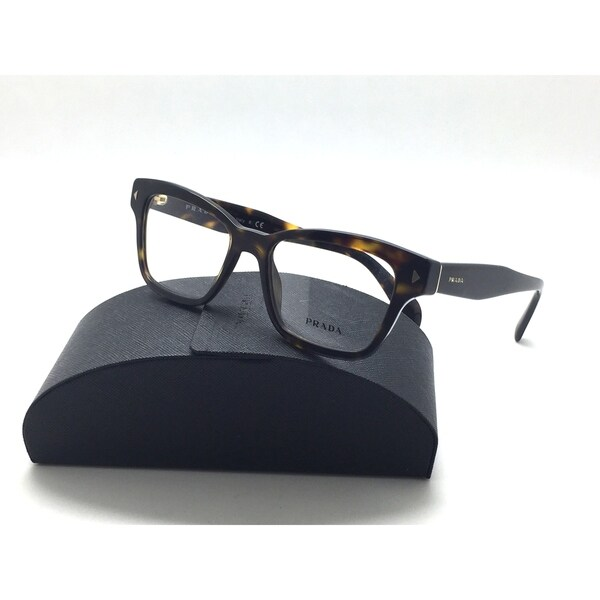 64557003a2 Shop Prada VPR 10S 2AU-1O1 Dark Havana Authentic Eyeglasses 51mm w ...
