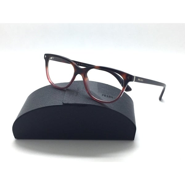 e28ac1c5b8b PRADA VPR 14R TWC 1O1 Havana  amp  Red Glasses Eyeglasses Frames Size 52