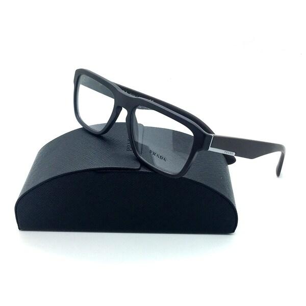 598aef11c53 Prada Matte Brown Eyeglasses VPR 04S TFD 1O1 53 mm Italy Keyhole Bridge