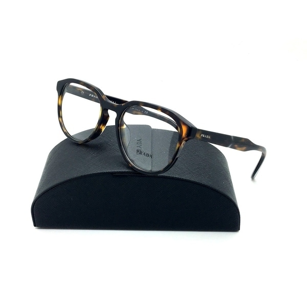 f85f7795bd07c Shop Prada Tortoise Eyeglasses VPR 18S F 2AU 1O1 53 mm Demo lenses Italy -  Free Shipping Today - Overstock - 23008353
