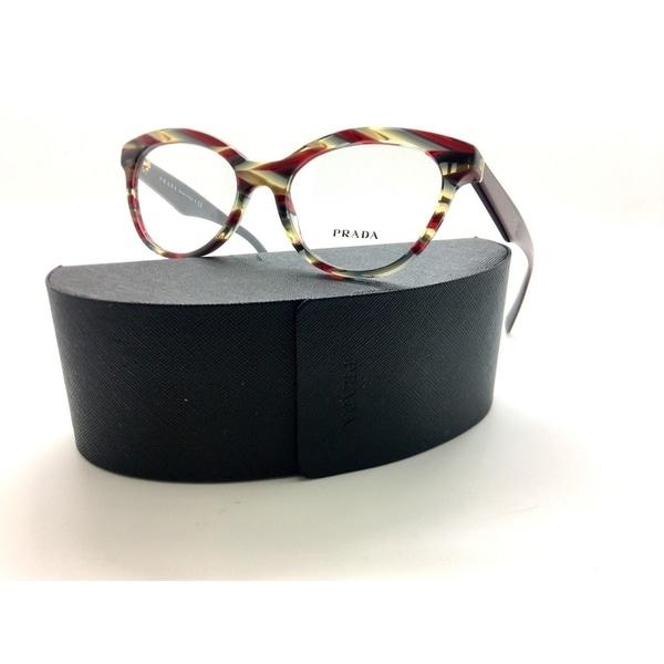 21064645ab0 Prada Vpr 11r Vap-1o1 Multi Red Burgundy Eyeglasses Pr11r Authentic Rx 50-17