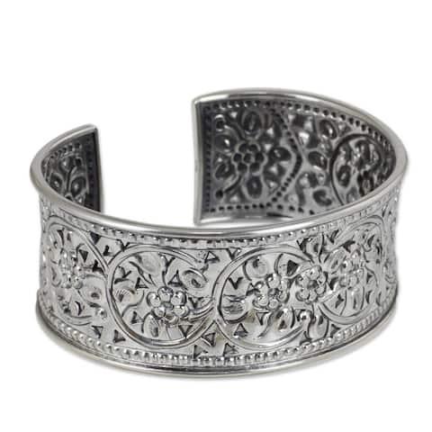 Sterling Silver Jasmine Arabesque Bracelet