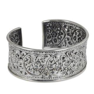 Handmade Sterling Silver Jasmine Arabesque Bracelet (Thailand)