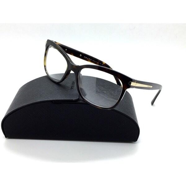 1307b58ff2c Prada Tortoise Eyeglasses VPR 10R 2AU 1O1 53 mm Havana Italy Demo lens