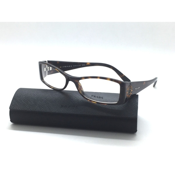 e09c329df75 PRADA 08H 2AU 1O1 Eyeglasses Frames Glasses Tortoise Mango Flower Jewel 52mm