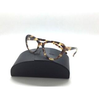 PRADA VPR 25r 7s0-1o1 Yellow Havana Authentic Eyeglasses Rx-able Frames 52mm