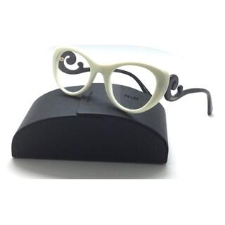 PRADA Ivory Round Swirl Authentic Spr 06q 7s3 49mm Eyeglasses