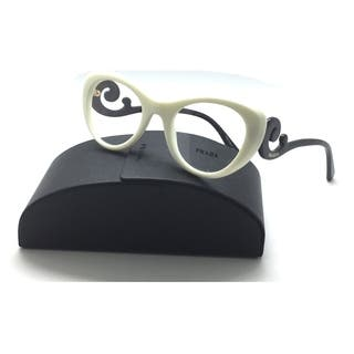 bc0df8cb719 PRADA Ivory Round Swirl Authentic Spr 06q 7s3 49mm Eyeglasses